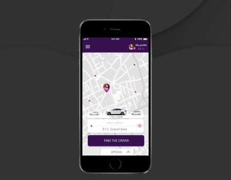 Projektowanie graficzne UI aplikacji taxi typu Uber