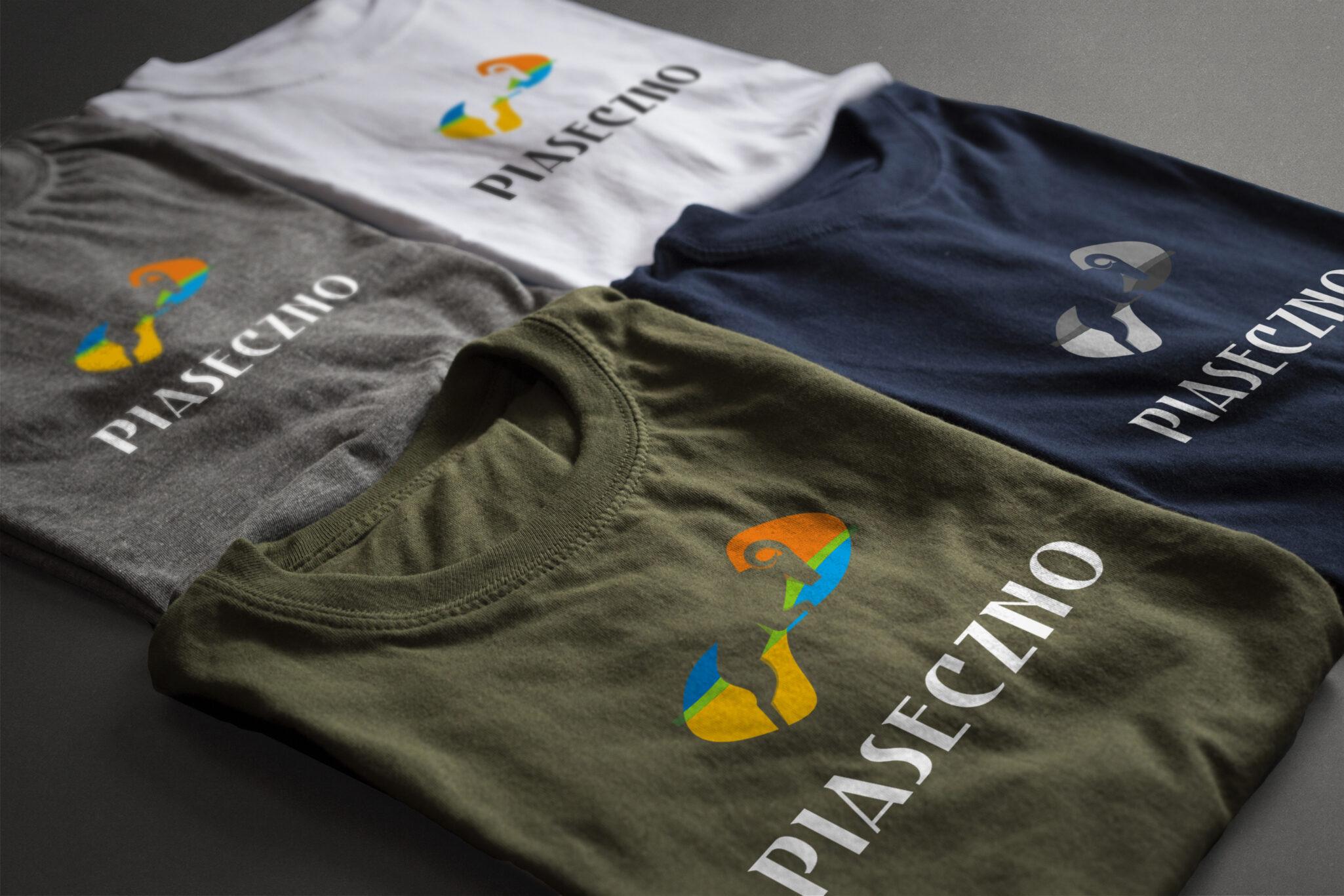 piaseczno logo projekt koszuli z logotypem