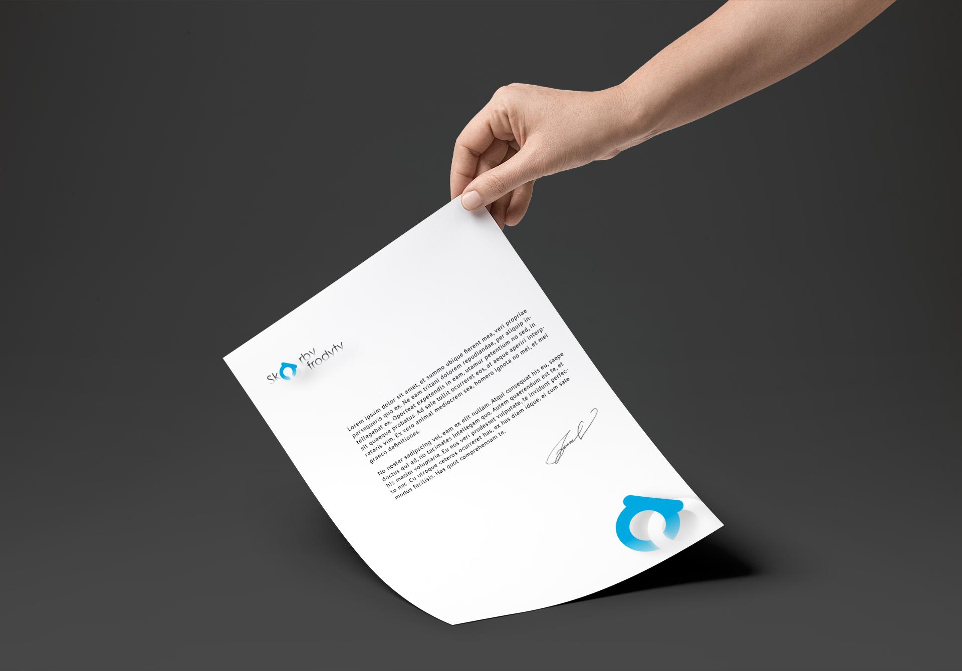 Projekt graficzny papier firmowy z logotypem
