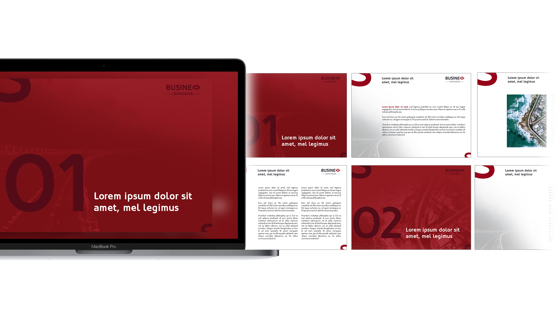 Projekt prezentacji w kolorach firmowych