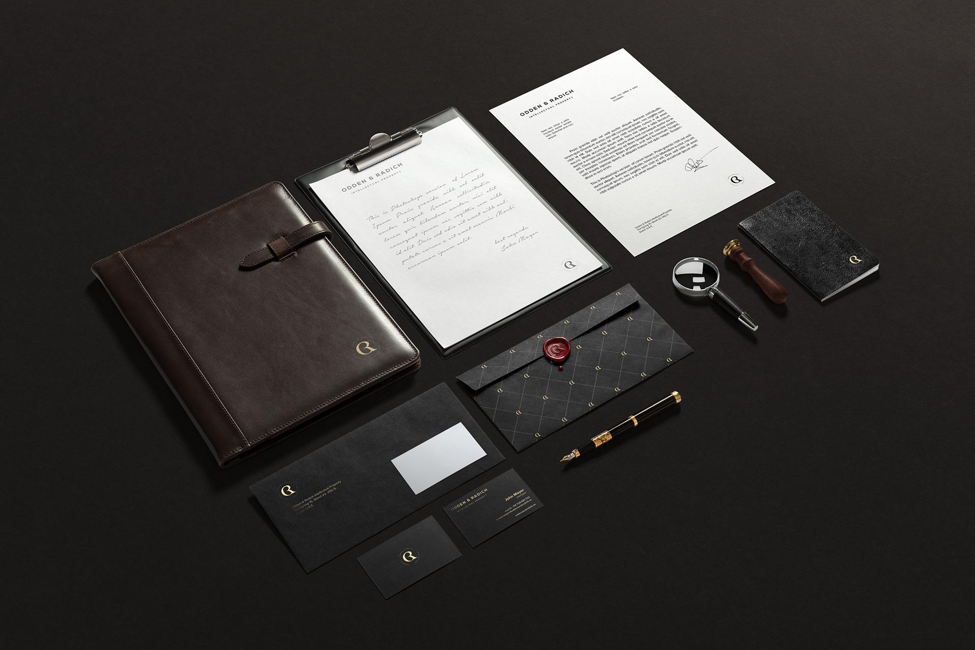 Projekt opracowania identyfikacji wizualnej luksusowej