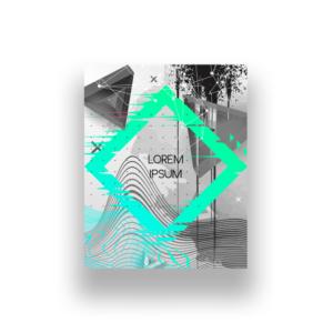 Projekt graficzny plakat modern