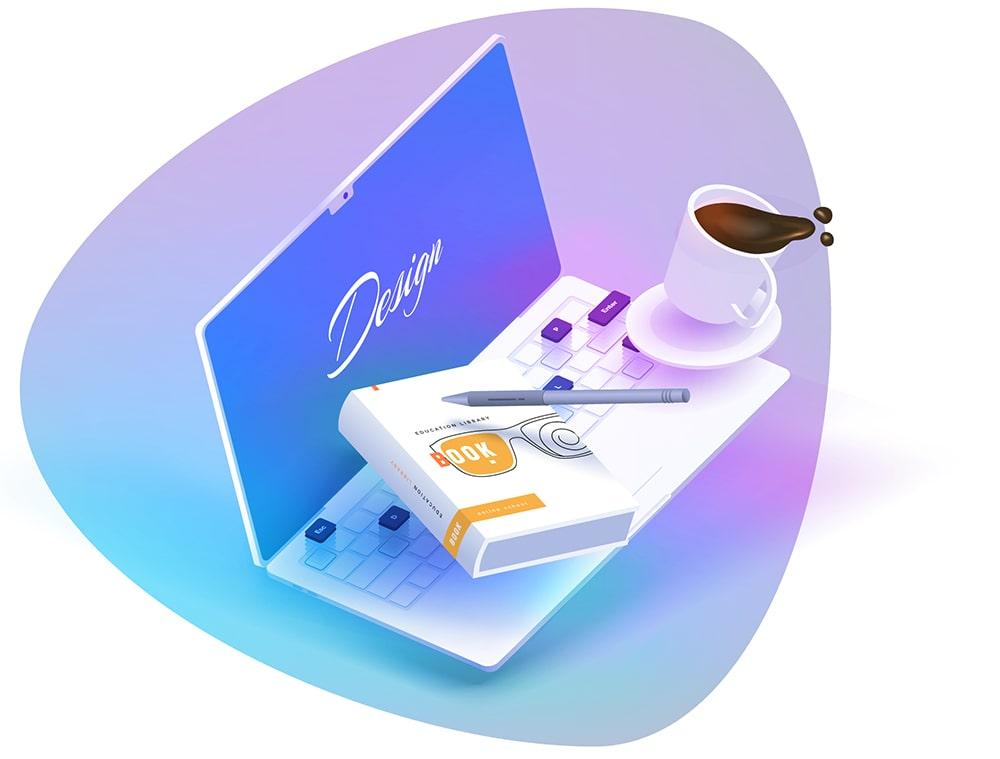projekty graficzne na laptopie