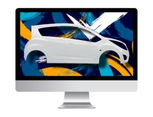 projekt oklejania samochodu na komputerze