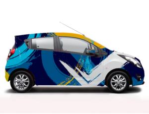 projekt oklejania samochodu osobowego