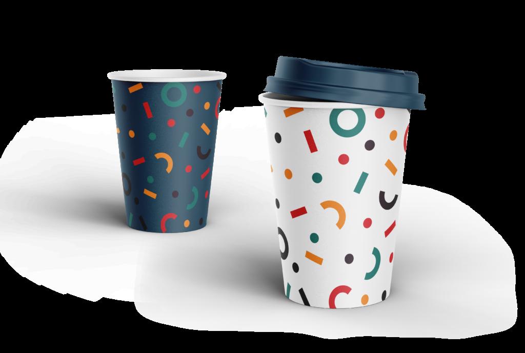 kubek kawy pattern identyfikacji wizualnej